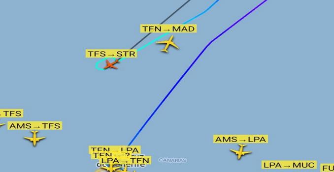 Teneriffa: Notfall über den Wolken » Ferienflieger ✈ nach Stuttgart kehrt um