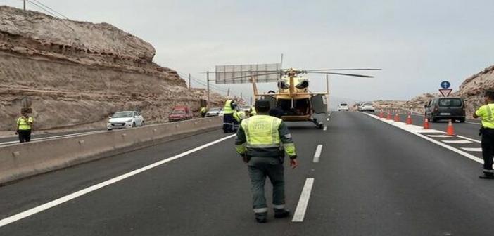 Teneriffa: Schwerer Unfall auf der TF-1 » Pkw kollidiert mit Beton-Leitwand